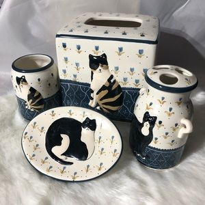 Cat bathroom set
